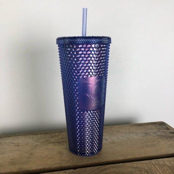 STARBUCKS x DISNEY blue 50th anniversary studded large cold cup / tumbler venti
